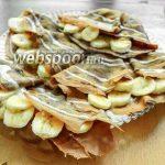 Шоколадные блинчики с банановой начинкой
