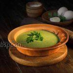 Протёртый суп из ботвы редиса с сыром