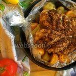 Куриная грудка с овощами в рукаве