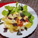 Молодая картошка с моцареллой в духовке