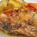 Курица с картошкой в медово-соевом соусе в духовке. Видео-рецепт