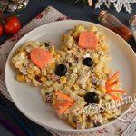 Вкусный салат на Новый год 2020 в виде мышки