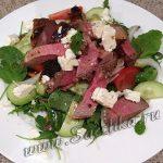 Зелёный салат с бараниной – рецепт с фото