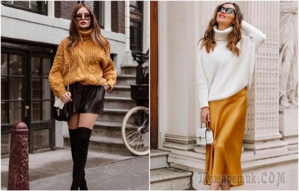 Как носить юбку со свитером и не казаться простушкой: 7 модных вариантов